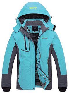 00f1d69564 Wantdo Women s Waterproof Mountain Jacket Fleece Windproof Ski Jacket Blue  US L Blue Large. Waterproof  Water-repellent rain coat can work under over  Price