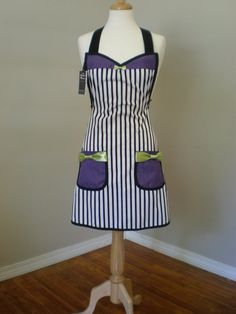 Beetlejuice Inspired apron by HauteMessThreads on Etsy, $36.00