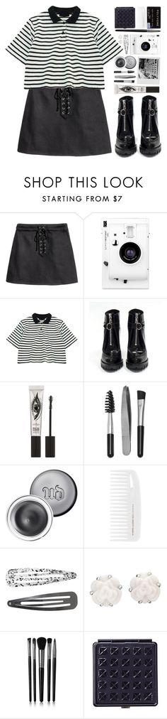 """#984 Lucy"" by blueberrylexie ❤ liked on Polyvore featuring H&M, Lomography, Chicnova Fashion, Prada, Eyeko, Sephora Collection, Urban Decay, Monki, Chanel and Illamasqua"