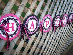 Happy Birthday Pirate Banner Girl Party Theme Decorations - Coordinates with Girl Pirate Theme. $35.00, via Etsy.