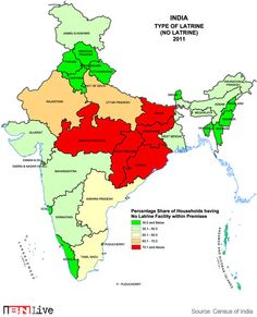 India Heat Map Toilet Map