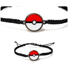 Poke Ball Bracelet Cartoon Poke Ball Macrame bracelet Pokemon Jewelry... ($9) ❤ liked on Polyvore
