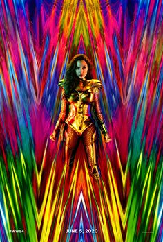 Wonder Woman won't becoming to Hall H at San Diego Comic-Con this year, but Wonder Woman 1984 director Patty Jenkins shared an update with fans: A fabulous new poster with a new costume for actress Gal Gadot. Chris Pine, Men In Black, Captain Marvel, Marvel Dc, Aquaman Marvel, First Wonder Woman, Wonder Woman Movie, Wonder Woman Art, Wonder Woman Cosplay
