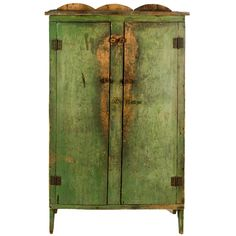 Vintage antique armoire in rustic apple green patina finish Primitive Decorating, Painted Furniture, Primitive Homes, Jelly Cupboard, Rustic Furniture, Primitive Cabinets, Furniture Inspiration, Primitive Furniture, Primitive
