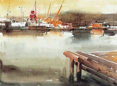Museu de l'Aquarel·la - J. Martinez Lozano - Llançà Watercolor Water, Watercolor Paintings, 1, Boat, Water Colors, Sketchbooks, Artwork, Ships, Textiles