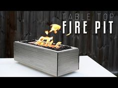 Making a table top FIRE PIT - YouTube
