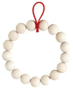 Verso Design Kranssi Natural Birch Wreath Or Trivet With Red Loop - Trouva Christmas Design, Christmas Projects, Christmas Crafts, Christmas Decorations, Decor Crafts, Diy And Crafts, Red Felt, Beaded Garland, How To Make Wreaths