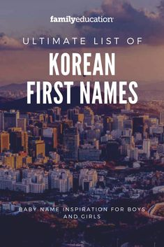 Want to name your baby on the way a Korean-inspired name? These Korean first names for boys are girls might be perfect for your newborn! #babynames #Koreannames
