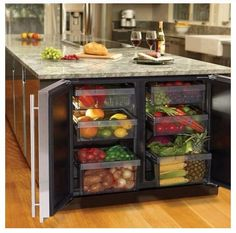 Kitchen Remodeling How to: I love this built-in vegetable bin.