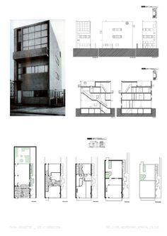 Maison Guiette - Le Corbusier - Antuérpia, Bélgica, 1925 (restauro e extensão por George Baines, 1985)