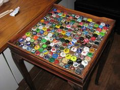 bottlecap table with resin coating tutorial