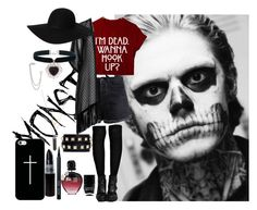 """""""all monsters are human"""" by camilitaml ❤ liked on Polyvore"""