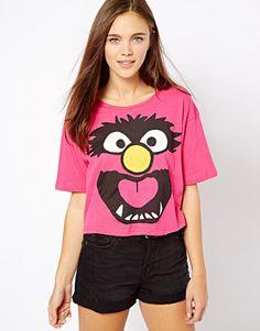Image 1 of River Island Animal Muppets Print T-Shirt