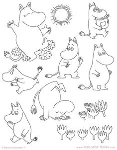 MOOMIN / Moomintroll - Embroidery Patterns Mehr You are in the right place about embroidery monogram Here we offer you the most beautiful pictures about the embroidery butterfly you are looking for. Embroidery Designs, Hand Embroidery Patterns Free, Iron On Embroidery, Embroidery Sampler, Embroidery Transfers, Modern Embroidery, Geometric Embroidery, Portrait Embroidery, Embroidery Tattoo