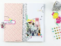 Larkindesign Traveler's Notebook Layout | Favorite Things Summer Edition