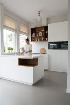 Epoxy Table - Welcome Epoxy Table Ideas Home Kitchens, Small Kitchen Decor, Open Plan Kitchen Diner, Kitchen Design, White Gloss Kitchen, Kitchen Decor, Kitchen Interior, Kitchen Layout, Kitchen Furniture Design