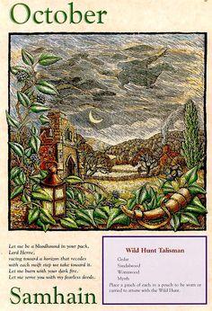 Samhain (October) Tarot, Beltane, Wicca Witchcraft, Magick, Wiccan Sabbats, Pagan Festivals, Samhain Halloween, Book Of Shadows, Occult