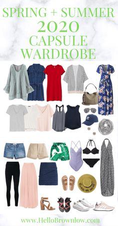 My Minimalist Spring & Summer Capsule Wardrobe French Capsule Wardrobe, Preppy Wardrobe, Capsule Wardrobe Essentials, Capsule Outfits, Fashion Capsule, Summer Wardrobe, Ski Fashion, Packing Outfits, Classic Wardrobe