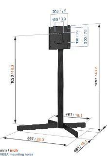 Vogel's EFF 8230 TV Floor Stand