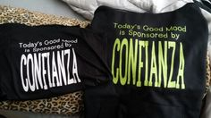 I have the best teammates and friends ever!! My amazing friend and fellow Distributor, Amber, made these fabulous shirts for me! I love them! #ItWorks #Family #Friends #Confianza #Funny #NewShirts #Love
