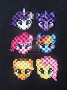 My Little Pony Perler Bead Ornaments by AshMoonDesigns on deviantART