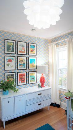 Scallop printed walls