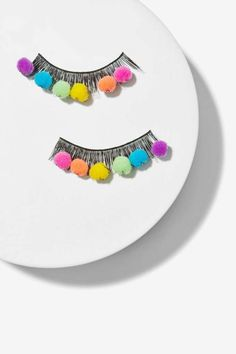 Wicked Hippie Shake Your Pom Pom Lashes - Accessories | Face | Novelty