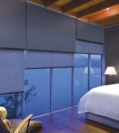 Protect your privacy with Luxaflex blockout roller blinds. Luxaflex New Zealand.