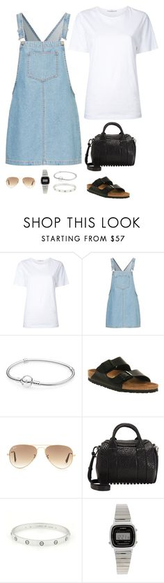 """Today look"" by tfundamental ❤ liked on Polyvore featuring Astraet, Pandora, Birkenstock, Ray-Ban, Alexander Wang, Cartier and Casio"