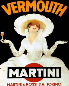 Vermouth Martini | Vintage food & drink poster