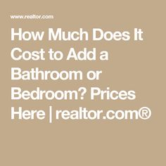 How much does it cost to add a bathroom, bedroom, master suite, and more? Here's the ballpark price of home additions, based on what you want to build. Half Bathroom Decor, Add A Bathroom, Modern Bathroom Sink, Master Bathrooms, Bathroom Design Layout, Bathroom Design Luxury, Modern Bathroom Design, Bathroom Designs, Add A Room