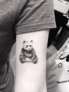 Adorable Panda Tattoo by Doctor Woo