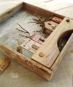 Woodworking Ideas Pallets, Awesome Woodworking Ideas, Woodworking Box, Woodworking Workshop, Woodworking Projects, Driftwood Crafts, Rustic Crafts, Diy And Crafts, Arts And Crafts