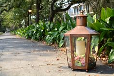 Use #bevolo Pool House Lantern to light walkways and paths.