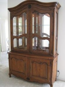 Fresh French Provincial Display Cabinet