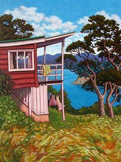 Rachel Olsen Artist - buy Original New Zealand Art Nz Art, Art For Art Sake, New Zealand Landscape, New Zealand Art, Art Folder, Kiwiana, Contemporary Artwork, Beach Art, Painting Inspiration