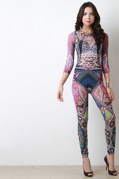 93addeebdf24 Description This jumpsuit features semi-sheer mesh