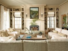 great room layout if could put entrance to porch from the side of the room where the fireplace currently is...use double french doors on the side and wrap porch around ???