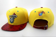 f6803035bd6 NBA Miami Heat Snapback Hats Yellow New Era Red Snakeskin 2753! Only   8.90USD Nba