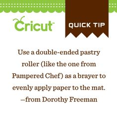 Apply your paper evenly to your cutting mat!