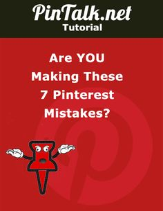 Are You Making These Pinterest Mistakes? #Pinterest is a young social network loaded with images. The highly visual site is used to collect graphics, photos, videos and other images on virtual pinboards. The site is easy to use, but there are a lot of errors you might be making that are effecting how users find and share your content. Are you doing any of these? #socialmedia