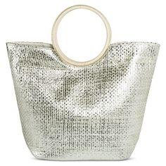 Women's Metallic Tote Handbag