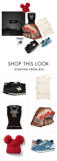 """""""Run the World in New Balance/Contest Entry"""" by eimerchef ❤ liked on Polyvore featuring New Balance Classics, Globe-Trotter, Oasis, Vivienne Westwood, Gap and NewBalance"""