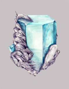 Mineral Admiration: Watercolor Paintings of Crystals by Karina Eibatova