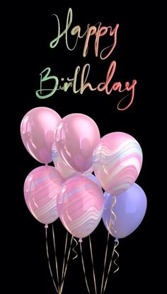 A black background with animated text and floating balloons. Happy Birthday Greetings Friends, Animated Happy Birthday Wishes, Happy Birthday Wishes Photos, Birthday Wishes Flowers, Happy Birthday Video, Happy Birthday Celebration, Birthday Wishes For Friend, Birthday Wishes Messages, Happy Birthday Gifts