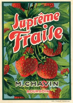 Vintage labels - fraise by pilllpat (agence eureka), via Flickr