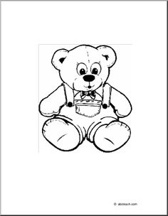 Coloring Page: Teddy Bear -