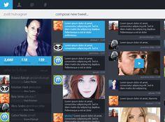 Twitter redesign concept by zsolt hutvagner, via Behance