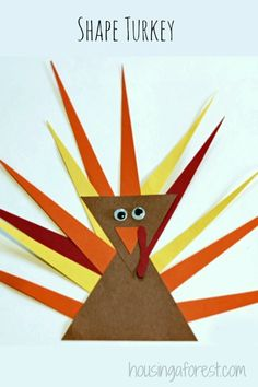 Shape Turkey  ~ Simple toddler activity