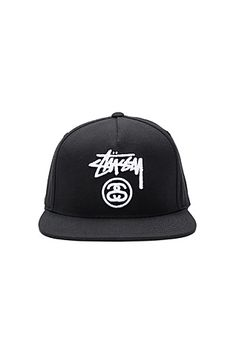 1cee6f06b4a The Stock Lock Cap from Stussy. Classic fit snapback featuring the iconic  embroidery on the crown with contrasting color bill. Constructed from a  blend of ...